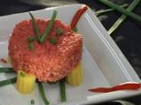 Флен от червено цвекло, фенел и тофу