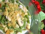 Зелен фасул с гъби и сметана