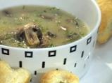 Супа с печурки и бутерки със сирене и...