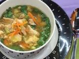Пилешка супа с лимон и спанак