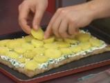 Тарта с картофи, спанак и извара 4