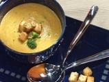 Супа от броколи с печени чушки