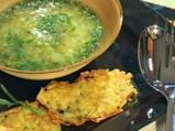 Супа от пресен чесън с картофено пюре