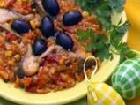 Рибаришко кълцано с ориз и зеленчуци