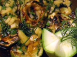 Барбекю салата от печени тиквички