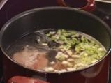 Пилешка супа с бухтички от кисело мляко