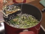 Лятна картофена супа с тиквички и царевица 2