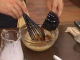 Карамелизирани кайсии със захаросани хрупки и ягодово сорбе 5