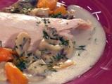 Пилешко фрикасе с гъби и копър