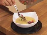 Студена супа със зрял фасул с притурка от шпек и домати 4