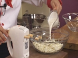 Бадемов крем с извара и плодова салата