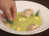 Супа от пъпеш и манго със сметаново-канелов сладолед 5