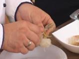 Кралски скариди, увити във филе от нилски костур