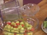 Динена салата с пъпеш и бадемов дресинг с мента 4