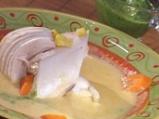 Пилешко варено с крем супа от царевиц...