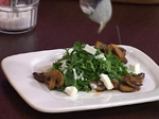 Свежа салата със спанак и печурки 3
