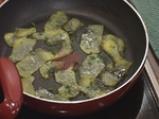 Маринована пъстърва с картофено пюре с манатарки