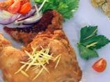 Ямайско панирано пиле с домати и коко...