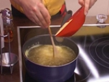 Качамак на тиган с карначета и броколи