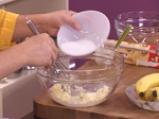 Бананов кекс с ванилова крем-глазура