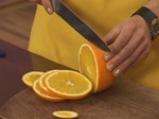 Пикантно пиле с портокали 4
