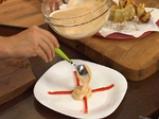 Наденица в картофена коричка и пюре от фасул 10