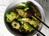 Ориз с броколи и гъби шийтаке