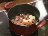 Крем супа от домати с пилешки сърчица 2
