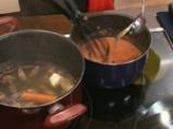 Крем супа от домати с пилешки сърчица 5