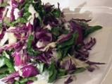 Зимна зеленчукова салата с млечен дре...
