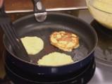 Картофени палачинки с крем от спанак и рулца от раци 7