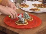 Картофени палачинки с крем от спанак и рулца от раци 10
