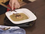 Крем супа от праз със зрял фасул и крутони с чушки 8