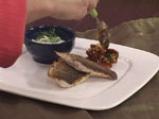 Лаврак с крем от фенел и сушени домати с кориандър 9