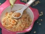 Плодово-зеленчукова каша с овесени ядки