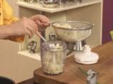 Забулени яйца с пюре от карфиол и крокан от картофи 6