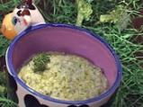 Пюре с броколи и сирене