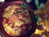 Картофи с праз и бекон в гювече