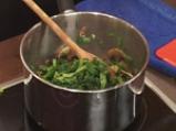 Качамак-мусака със спанак и печурки 3