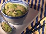 Зелена супа със свинско и зеле