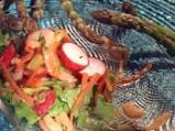 Салата от аспержи със скариди