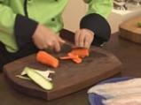 Рулца пангасиус с тиквички и моркови 3