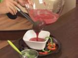 Супа от домати и цвекло с краставица на кристали 9