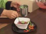 Супа от домати и цвекло с краставица на кристали 10