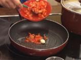 Равиоли с коприва, зеленчуци, песто и шафран 3
