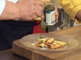 Равиоли с коприва, зеленчуци, песто и шафран 7