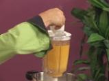 Крем супа от моркови с лук и кашу 6