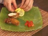 Хрупкави пилешки пурички с пъпеш и козе сирене 10