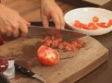 Пенне ригате с тиквички, пресни домати и маслини 6