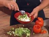 Пълнени домати с броколи и извара 3
